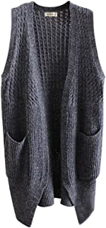 Gordon Q Women's Womens Casual Open-front Knitted Long Cardigan Vest