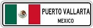 Tamengi Puerto Vallarta, Mexico Street Sign Mexican Flag City Country Road Wall Gift