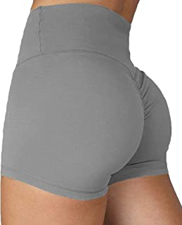 Women's High Waisted Yoga Shorts Sports Gym Ruched Butt Lifting Workout Running Hot Leggings