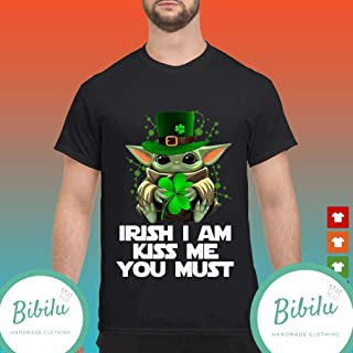 Irish I Am Kiss Me You Must Baby Yoda St Patricks Day Handmade Unisex T Shirt/_Long Sleeve/_Sweatshirt/_Hoodie