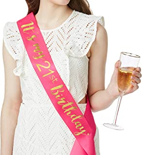 Amazon com: finally 21 birthday sash