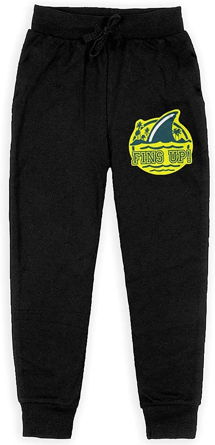 Meimeicaiopa Fins Up Boy's Training Flannel Sweatpants Girl's Jogger Cotton Sweats Pants with Pockets