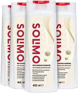 Marchio Amazon - Solimo Shampoo rigenerante per proteggere i capelli colorati con cheratina, filtro UV e proteine- Confezi...