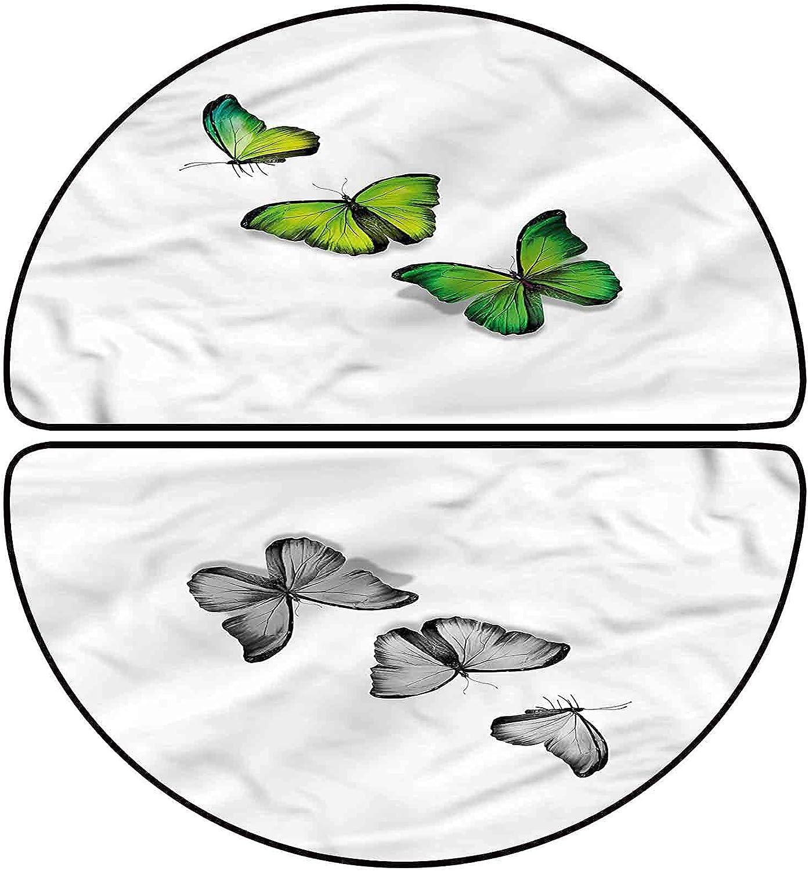 Green Half Round Bath Mat Magical 24