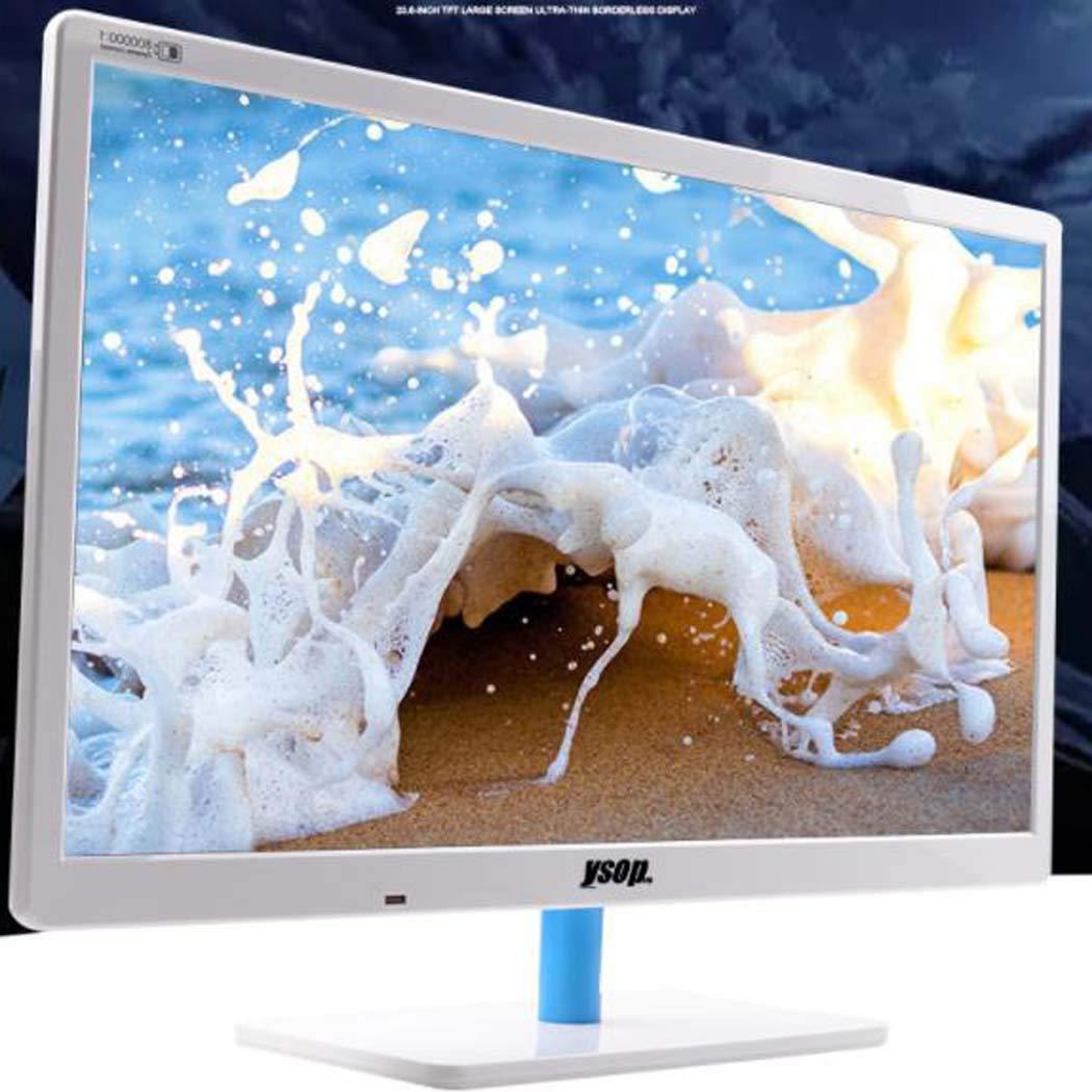 GGPUS 24-Pulgadas LCD LED, HDMI, Pantalla Ancha, Monitor, 1920 * 1080, 98% sRGB, 5 Millones: 1 OCR, 2 Millones de Colores, Flick Gratuito, Blanca: Amazon.es: Hogar