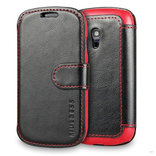 Mulbess Cover per Samsung Galaxy S3 Mini, Custodia Pelle con Magnetica per Samsung Galaxy S3 Mini Case, Nero