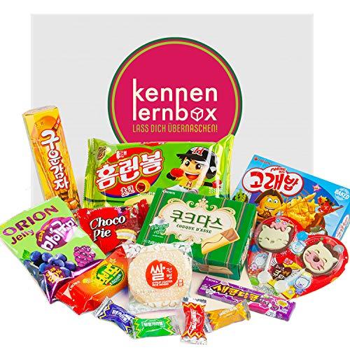 Korea Box | Kennenlernbox mit 14 beliebten Süßigkeiten aus Korea | Geschenkidee für besondere Anlässe
