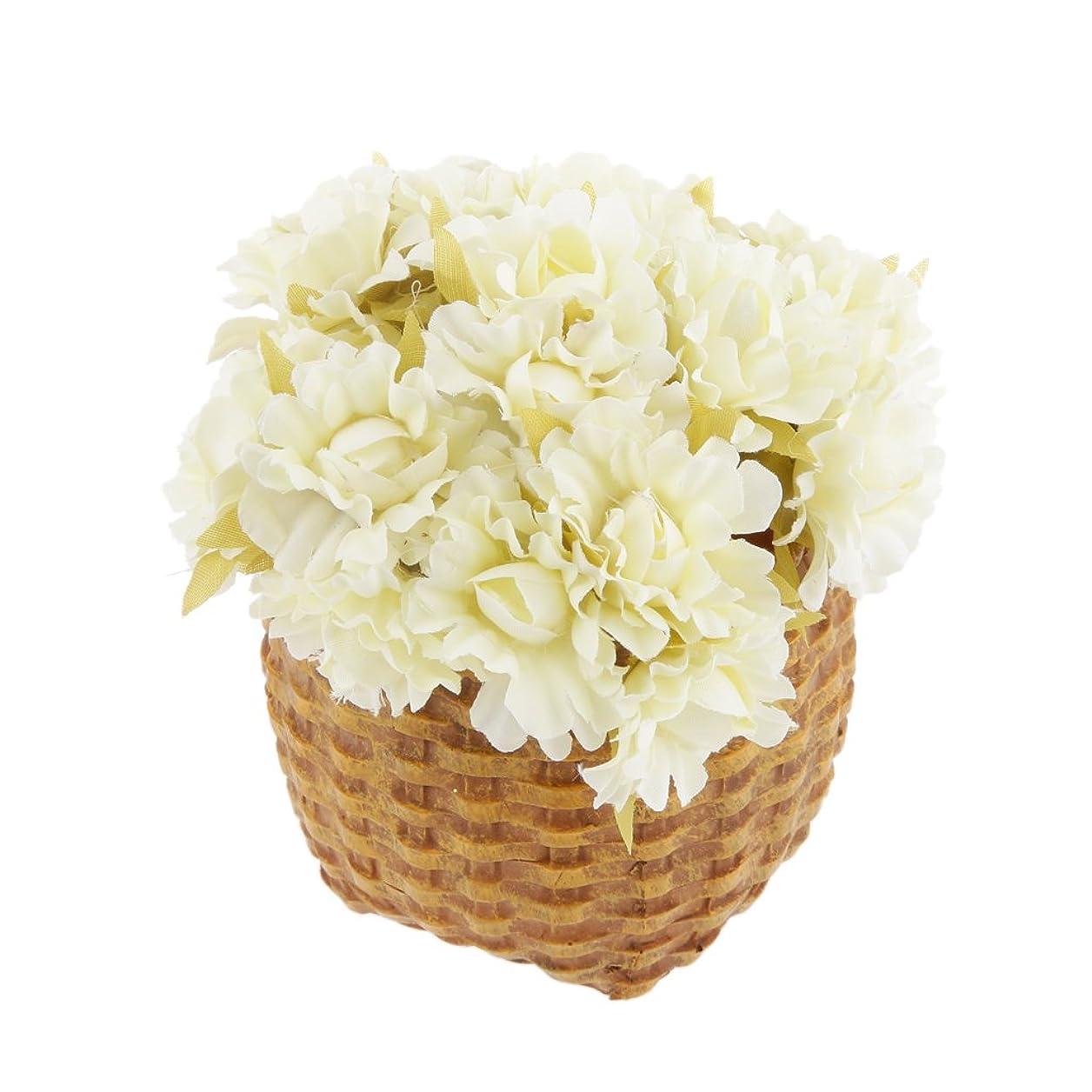 スリットはねかけるもっと60ピース 造花 シルク ヘッド デイジー 結婚式 装飾 DIY 花束 13色選べる - ベージュ, 10センチメートル
