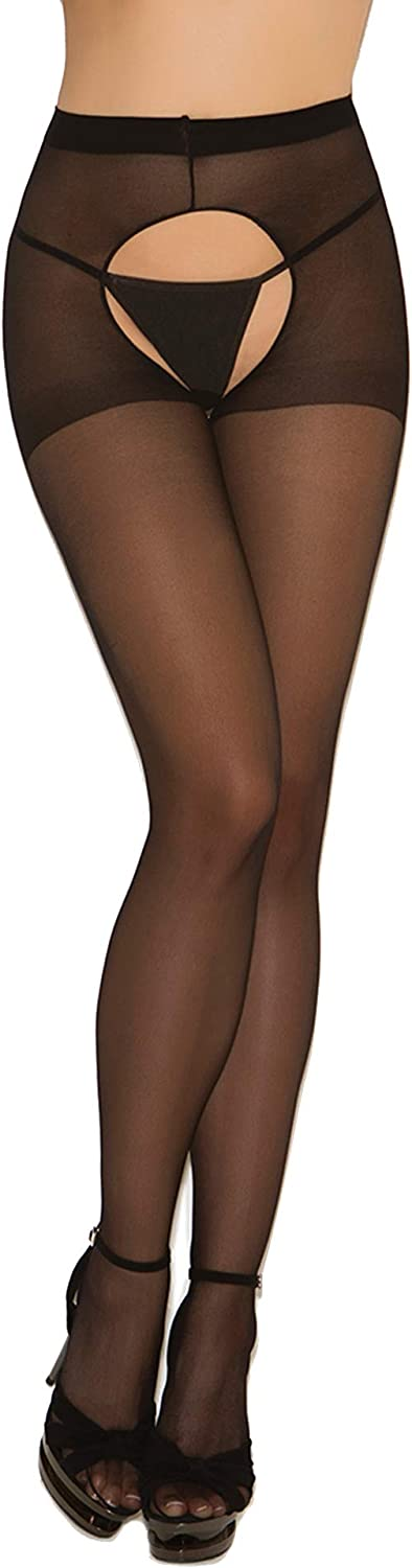 Black women in pantyhose Amazon Com Womens Sexy Sheer Black Crotchless Pantyhose Hosiery Stockings Tights 2 Pack Clothing Shoes Jewelry