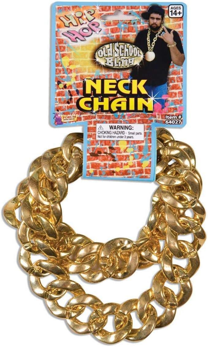 Forum Novelties 80'S Big Links Neck Chain Gold