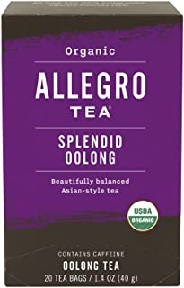 Allegro Tea, Organic Splendid Oolong Tea Bags, 20 ct