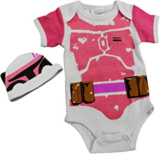 Knitwits Baby Fett Onesie and Hat Bundle Outfit