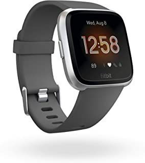 Fitbit Versa Lite Health & Fitness Smartwatch with Heart Rate, 4+ Day Battery & Water Resistance, Silver/Grey