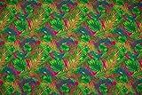 Softshell Dschungel Pflanzen, pink/kiwi