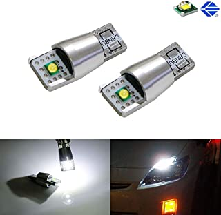 iJDMTOY 2-CREE 10W 168 194 2825 W5W LED Replacement Bulbs For Parking/Position Lights or License Plate Lights, Xenon White