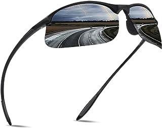 JULI Polarized Sports Sunglasses for Men Women Tr90 Unbreakable Frame for Running Fishing Baseball Driving 8002