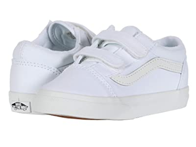 Vans Kids Old Skool V (Infant/Toddler) (True White/True White) Kids Shoes