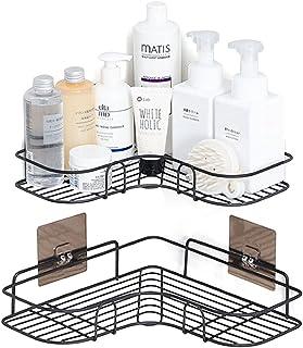 Shower Organizer Storage,Bathroom Shower Corner Shelves No Drilling Shower Caddy Shower Basket Organizer with Adhesive Sti...