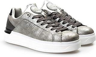 COLMAR ORIGINALS, Scarpe da Donna Casual, Suola Alta/Glitter, Modello Bradbury Punk- Grey/Silver, H-BRADB.P.067 (36)