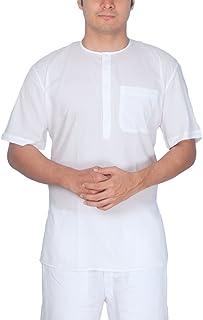 Rajubhai Hargovindas White Fine Cotton Short Kurta