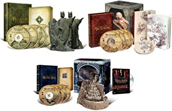 Lord of the Rings Extended Trilogy DVD Collection with Limited Edition Collectible Polystone Statues and Rare Golum & Lord of the RIngs Symphony Bonus Documentaries (Fellowship of the Rings/Two Towers