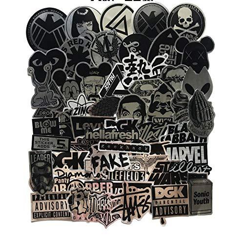 Heavy Metal Tide Brand Brushed Dark Sticker Suitcase Black Logo Creative Waterproof Personality Body Sticker