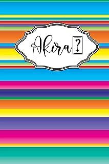 Akira: Personalised Journal Notebook for Girls Named Akira . (Custom Name Journal, Blank Journal, Write in Notebook) Large...