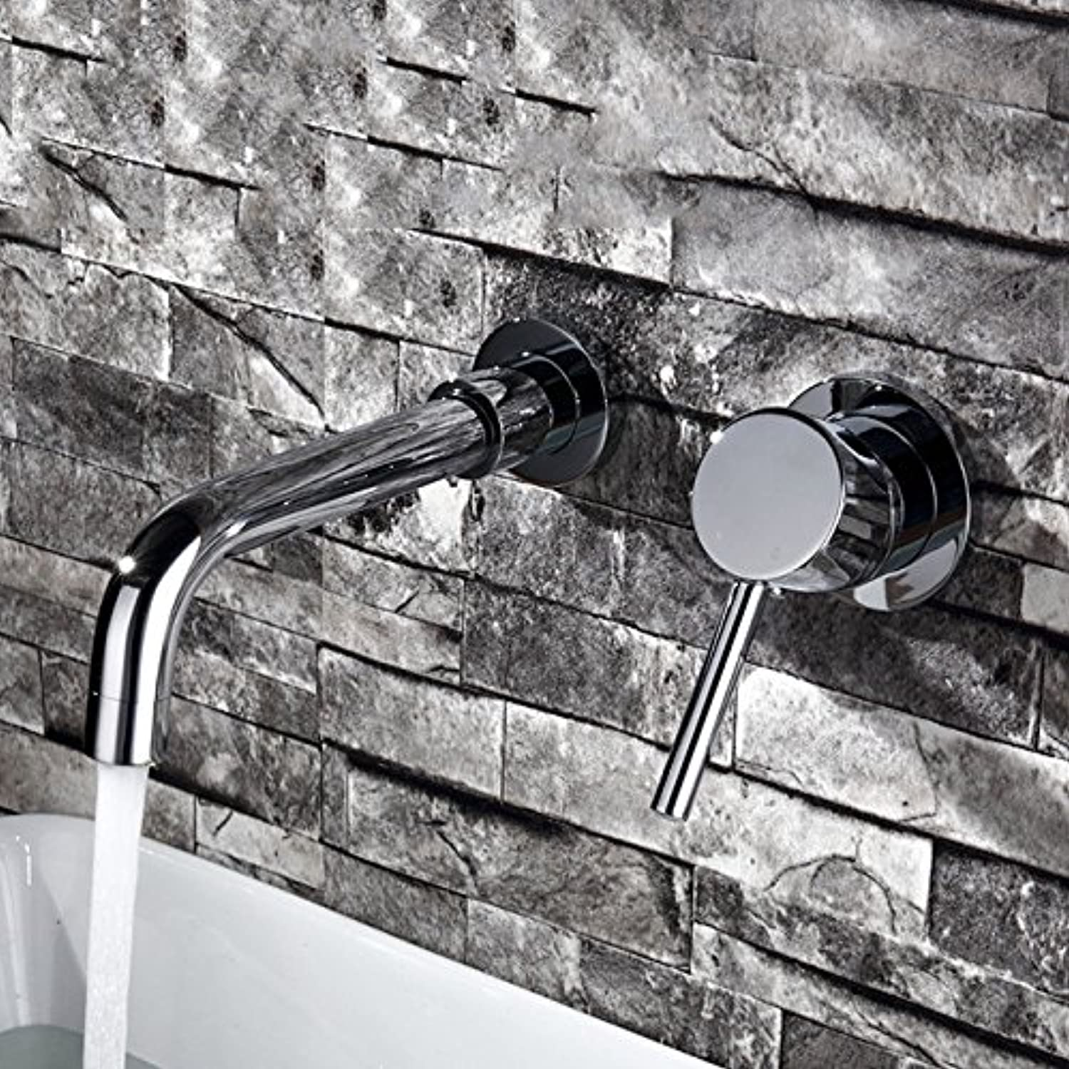 LHbox Basin Mixer Tap Bathroom Sink Faucet The copper into the wall mounted basin Bathroom Cabinet basin basin pre-laying cold and hot water tap,)