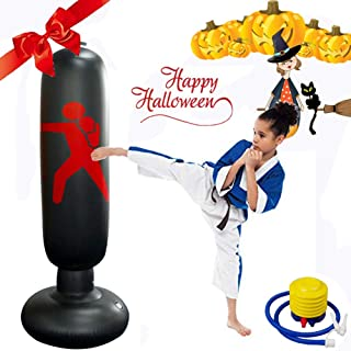kids punching bag and gloves set