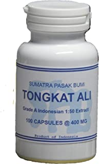 Tongkatali.org's 1:50 Indonesian Tongkat Ali Extract 100 Capsules 400 mg