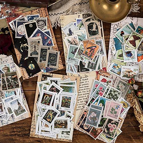 276 Pcs Pegatinas de Sellos, Pegatinas Decorativo Vintage Diario, Pegatina de Sellado DIY Paquete de Regalo pare DIY...