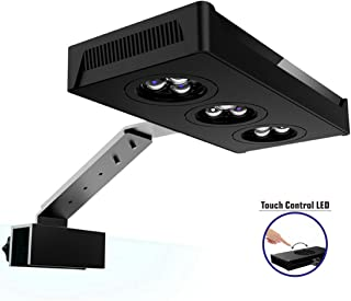 HIPARGERO LED Aquarium Light – Aquarium LED Lights 30W Saltwater Lighting with Touch..