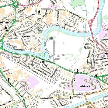 47 x 33.25 Laminated Wall Map Warrington