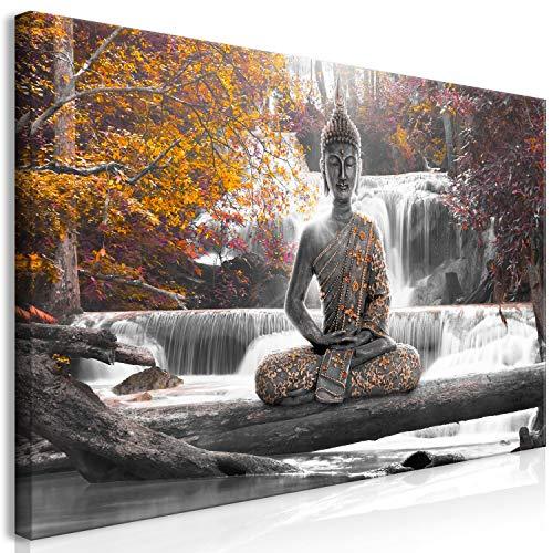 murando Quadro Mega XXXL Buddha 160x80 cm Straordinario Stampa su Tela XXXL per Un Facile Montaggio Fai da Te Grande Immagini Moderni Murale DIY Decorazione da Parete Cascata c-A-0021-ak-h
