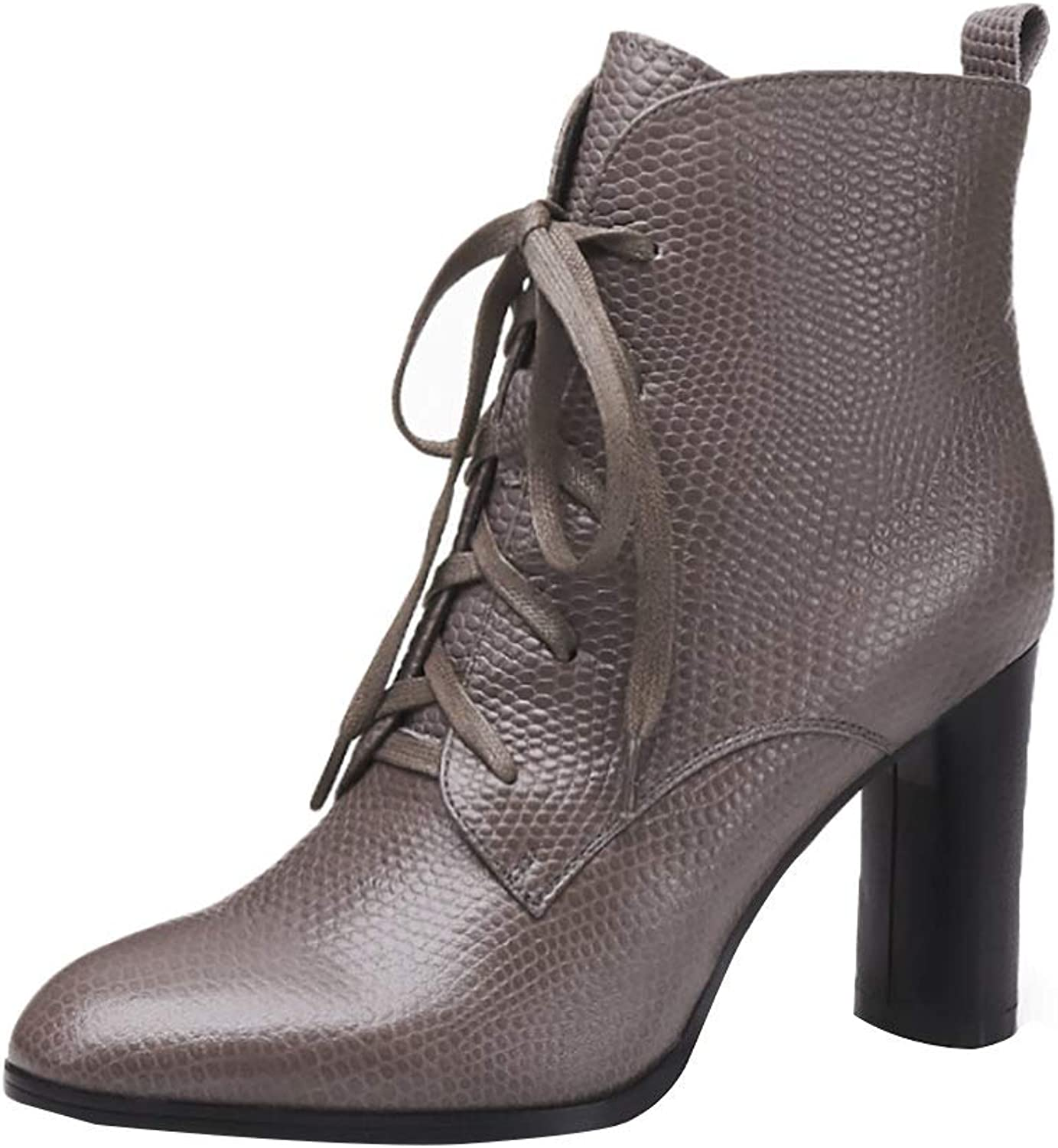 MAYPIE Womens Toattra Leather Zipper Ankle Boots