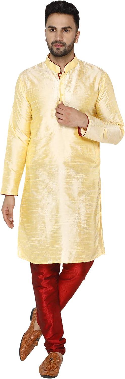 Chicago Mall SKAVIJ Ranking TOP11 Men's Art Silk Kurta Indian Pajama Set Annivarsary Ethnic