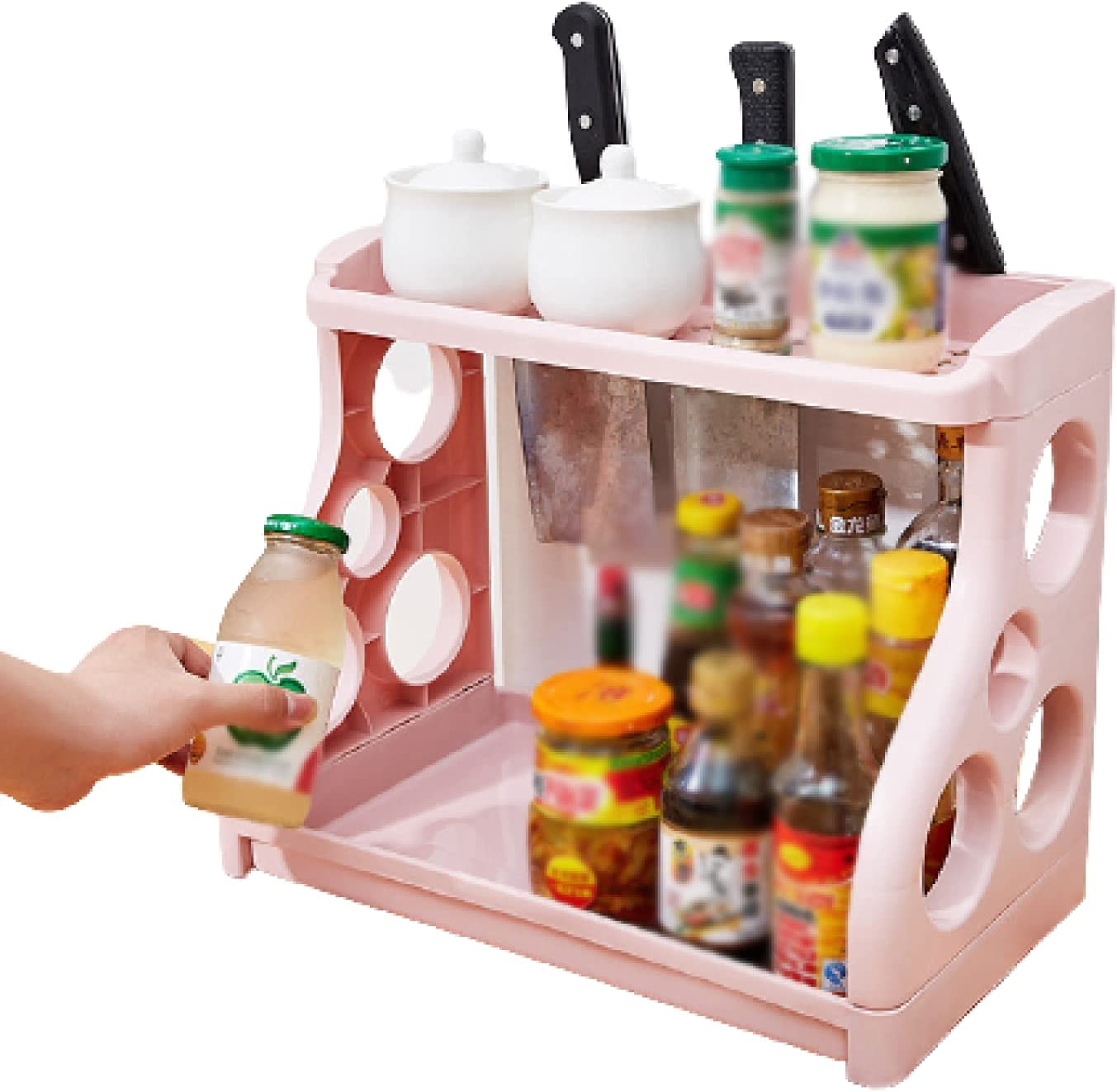 Spice In a popularity Rack Kitchen Storage Shelf Recommended H Counter Utensil