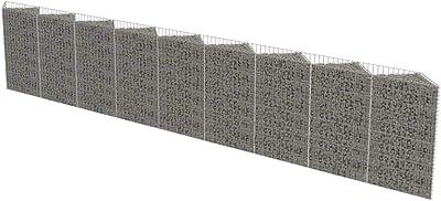 "vidaXL Gabion Planter Steel 141.7/""x35.4/""x39.4/"" Patio Flower Plant Bed Basket"