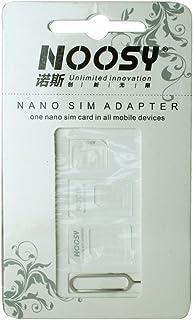 NOOSY 4 in 1 SIM Card Adapter - Adaptador para Tarjetas de Memoria (3 Pieza(s), Ampolla)