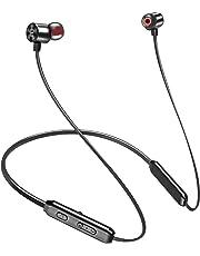 【Bluetooth 5.0 IPX7完全防水】Bluetooth イヤホン スポーツワイヤレスイヤホン 10時間連続再生 マグネット搭載 SBC&AAC対応 マイク内蔵 ランニング用 ハンズフリー通話 二台接続可能 CVC8.0ノイズキャンセリング搭載 自動ペアリング EVIO 運動 ブルートゥース イヤホン Siri対応 iPhone/ipad/Android適用