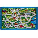Product Image of the Kids Rug Street Map Gray Area Rug 3' x 5'(3'3' X 4'9') (39' x 56') (99cm x...