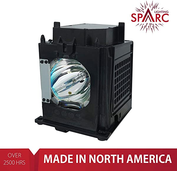 SpArc Lighting For Mitsubishi 915P049010 TV Lamp With Enclosure Fits WD 57731 WD 57732 WD 65731 WD 65732