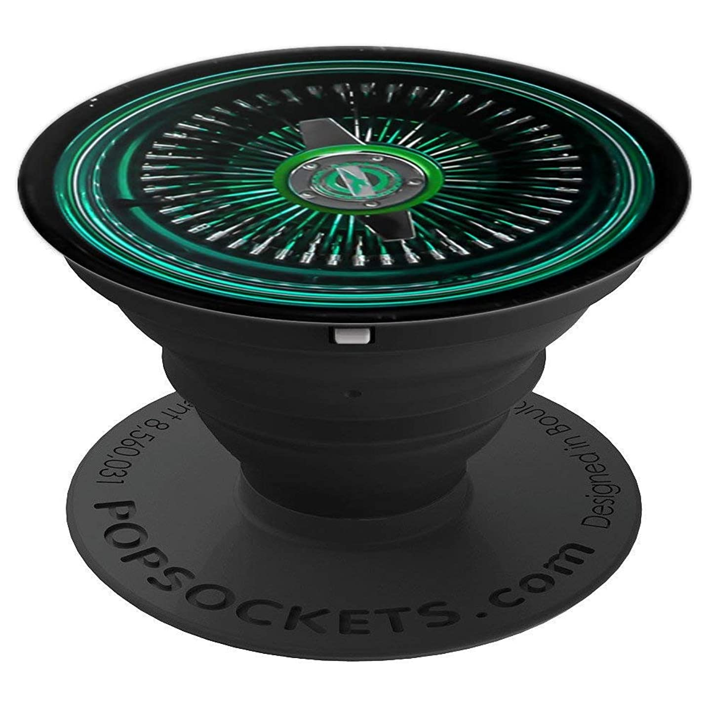 Lowrider Wire Wheel Phone Grip Green spoke - PopSockets Grip and Stand for Phones and Tablets