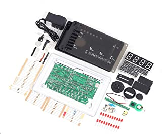 Digital Electronic Clock Kit, ECL-1227 Chip Alarm Clock Kit Soldering Practice Learning Kits Electronic Soldering Clock Ki...