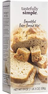 Tastefully Simple Bountiful Beer Bread Mix - Just Add Water! - Perfect Base for Garlic Bread, Salsa Bread, Bread Bowl for ...