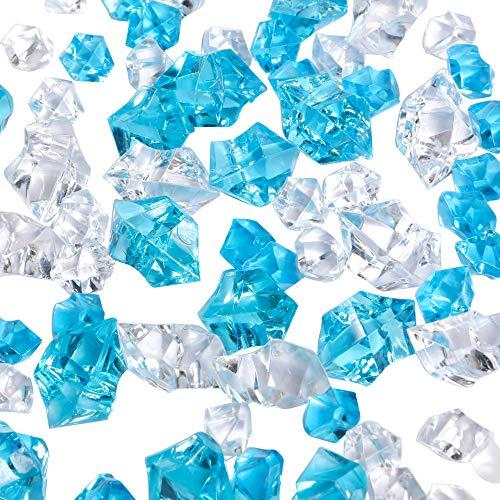 Lusto Lia, 150 Pietre di Ghiaccio finte, Cristalli acrilici per riempire vasi, Decorazioni per Matrimoni, casa e Feste, Decorazione da Tavolo Blue