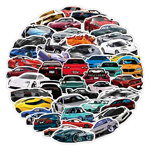 100pcs Waterproof Race Car Stickers for Laptop JDM Cars Racing Motors Vinyl Stickers for Water Bottles Computer Stickers for Teens Skateboard Stickers Hydroflask Phone Decals