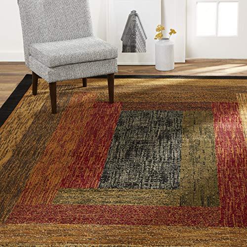 Home Dynamix Vega Modern Area Rug, Geometric Black/Brown/Red 5