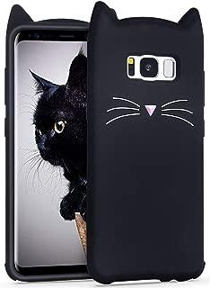 Maoerdo Galaxy S3 Case,3D Cartoon Cute Beard Cat Scratch Prevention and Anti Falling Soft Silicon Gel Rubber Case Cover for Apple Samsung Galaxy S3 (Black Beard Cat)