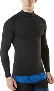 TSLA Men's UPF 50+ Long Sleeve Rashguard